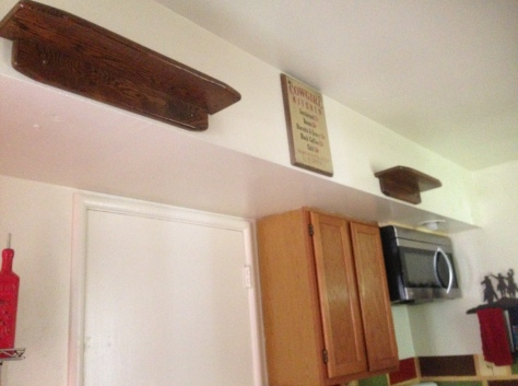 First Shelves in Kitchen